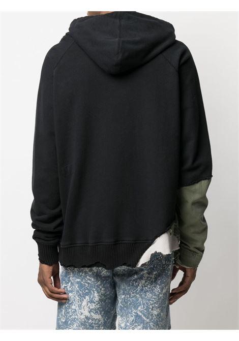 Greg lauren ripped-detail sweatshirt men black GREG LAUREN | BM300BLK
