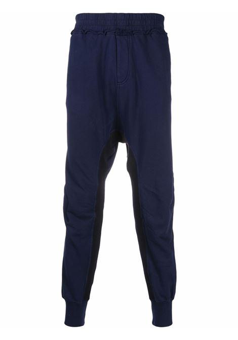 Haider ackermann drop-crotch track pants men indigo HAIDER ACKERMANN | Trousers | 2133804222058
