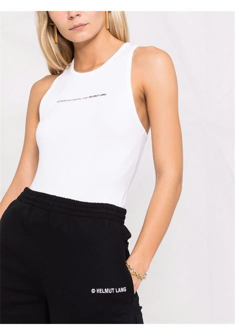 Helmut lang top con stampa donna chalk white HELMUT LANG   L01DW506VO2
