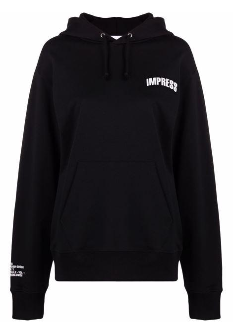 Impress slogan-print sweatshirt women black HELMUT LANG | Sweatshirts | L01DW599YVM