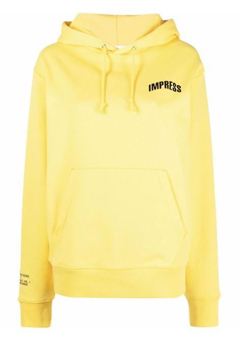 Helmut lang slogan-print sweatshirt  women yellow HELMUT LANG | Sweatshirts | L01DW599ZRL