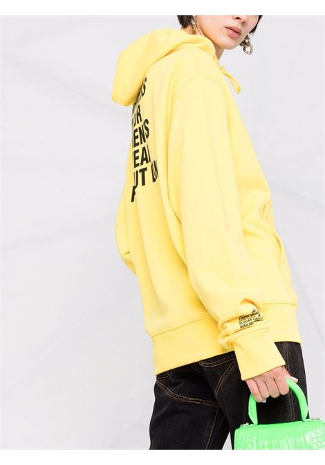 Helmut lang felpa con stampa donna yellow HELMUT LANG   L01DW599ZRL