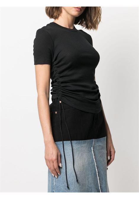 Helmut lang t-shirt crop donna black HELMUT LANG   L01HW509YVM