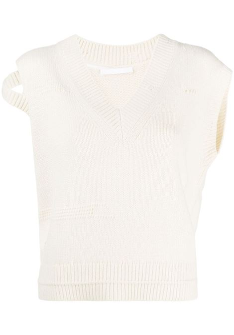 Helmut lang cut-out knitted top women ivory HELMUT LANG | Top | L01HW703C05