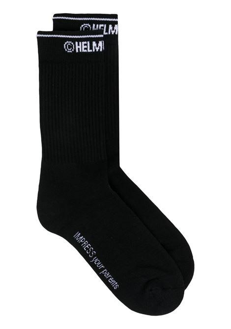 Helmut lang logo-intarsia women socks black HELMUT LANG | Socks | L01HW798001