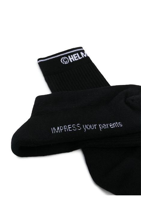 Helmut lang logo-intarsia women socks black HELMUT LANG   L01HW798001