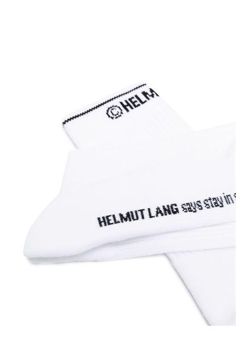 Helmut lang logo-intarsia socks women white HELMUT LANG   L01HW799100