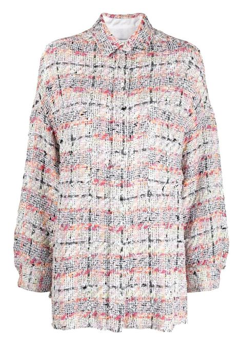 Mekkie tweed shirt jacket  IRO | Shirts | 21SWM100MEKKIEMUL07