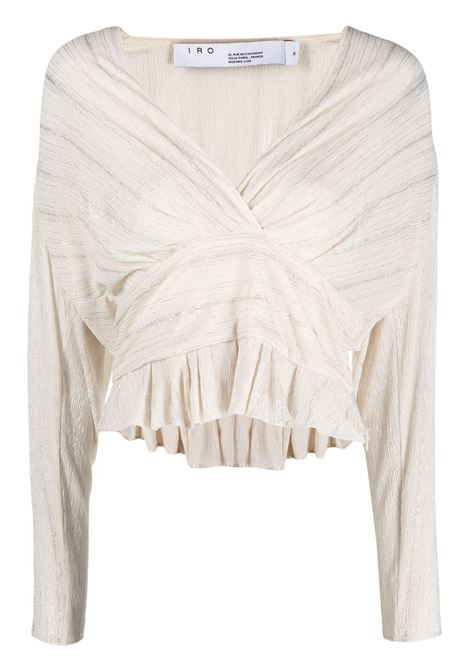 Iro top con scollo a v donna white gold IRO | Top | 21SWM16JOONOWHI26