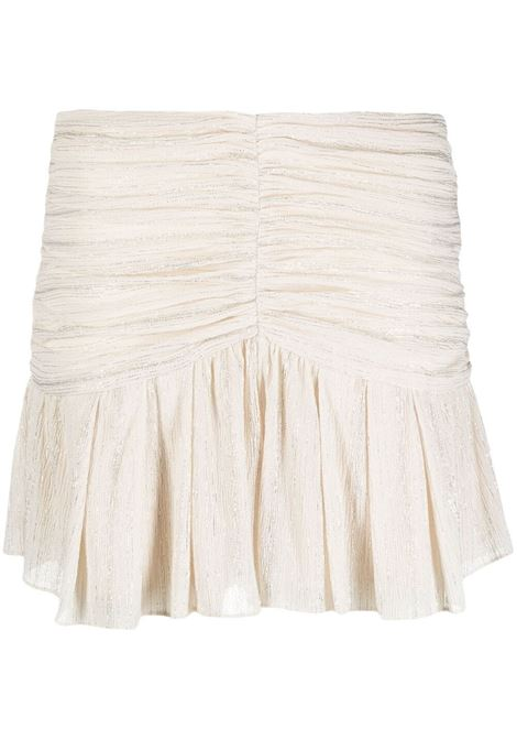 Ruched mini skirt  IRO | Shorts | 21SWM30CIBLEYWHI26