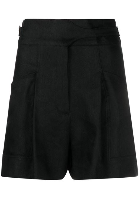 Iro shorts con fibbia donna black IRO | Shorts | 21SWM30SHOREDITCHBLA01