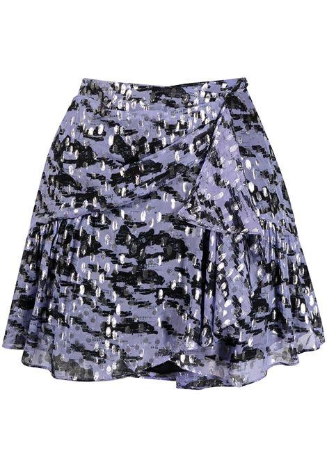Iro tie-dye mini skirt women lilas silver IRO | Skirts | 21SWM31DILIANSIL16