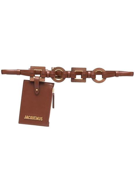 Jacquemus cintura la ceinture ano donna brown JACQUEMUS | Cinture | 211AC17211300800