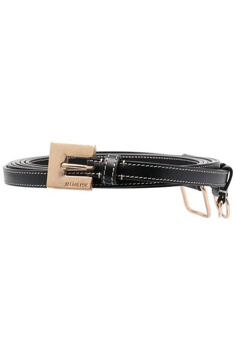 Jacquemus cintura la ceinture moisson donna black JACQUEMUS | Cinture | 211AC19211300990