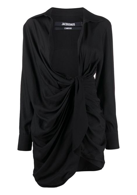 Jacquemus abito la robe bahia donna black JACQUEMUS | Abiti | 211DR09211102990