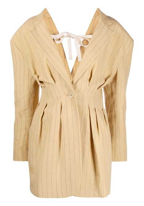 Jacquemus giacca la veste camargue donna yellow brown JACQUEMUS | Giacche | 211JA08211112851