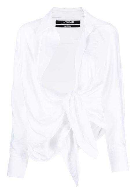 Jacquemus blusa la chemise bahia donna white JACQUEMUS | Camicie | 211SH02211102100