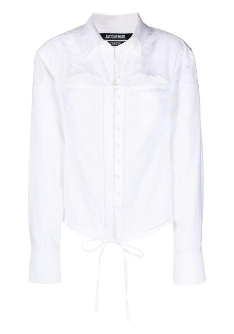 Jacquemus camicia la chemise nappe donna white JACQUEMUS | Camicie | 211SH10211102100