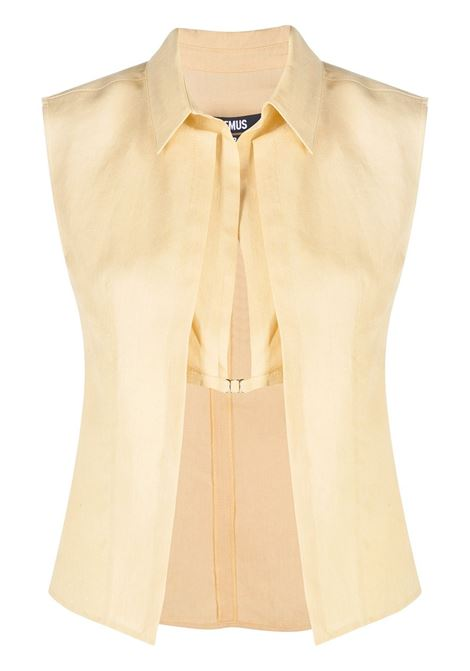 Jacquemus top a strati donna yellow sand JACQUEMUS | Top | 211SH13211101230