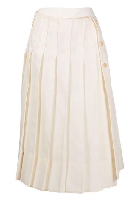 Jacquemus gonna la jupe plissée donna light beige JACQUEMUS | Gonne | 211SK05211101110