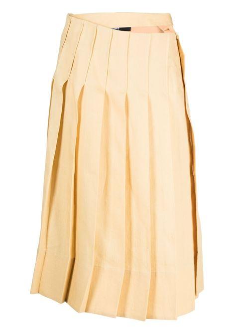 Jacquemus gonna la jupe plissée donna yellow sand JACQUEMUS | Gonne | 211SK05211101230