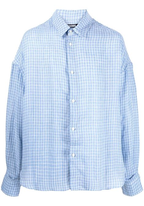 Jacquemus checked shirt men blue checks JACQUEMUS | Shirts | 215SH05215106352