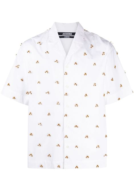 Jacquemus la chemise blé shirt men white embroidered JACQUEMUS | Shirts | 215SH20215119107