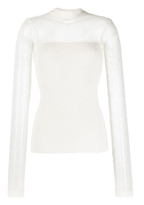 Off-gauge knitted top JIL SANDER | Sweaters | JSPS751061WSY42028105