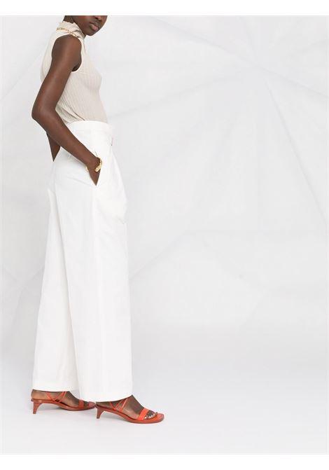 Jil sanders high-rise trousers women natural JIL SANDER   JSWS305005WS251300101
