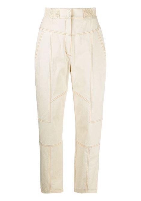 Jonathan Simkhai pantaloni celina donna ecru JONATHAN SIMKHAI | Pantaloni | 1214021BECRU
