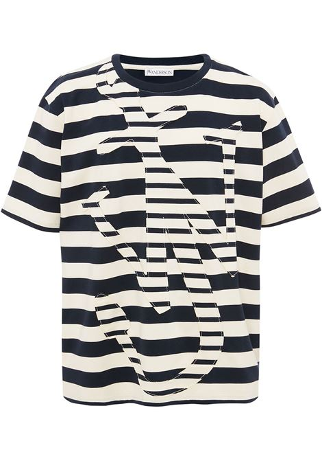 Jw Anderson t-shirt anchor uomo navy off white JW ANDERSON | T-shirt | JT0008PG0428891