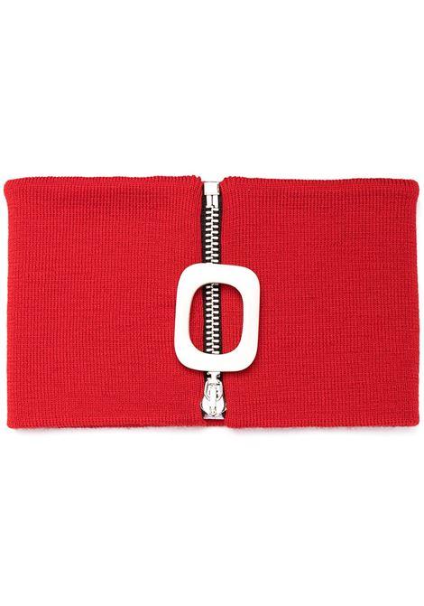 Jw Anderson sciarpa con zip uomo red JW ANDERSON | Sciarpe | KW0380YN0008459