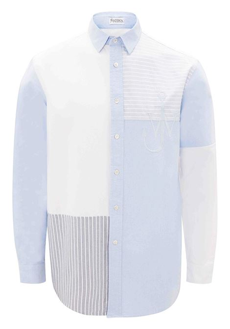 Jw Anderson camicia patchwork uomo light blue JW ANDERSON | Camicie | SH0072PG0480804