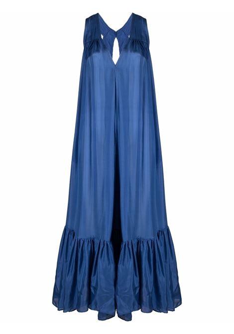 Ocean-blue pleated sleeveless gown - women KALITA   Dresses   NO12STRMYOCN