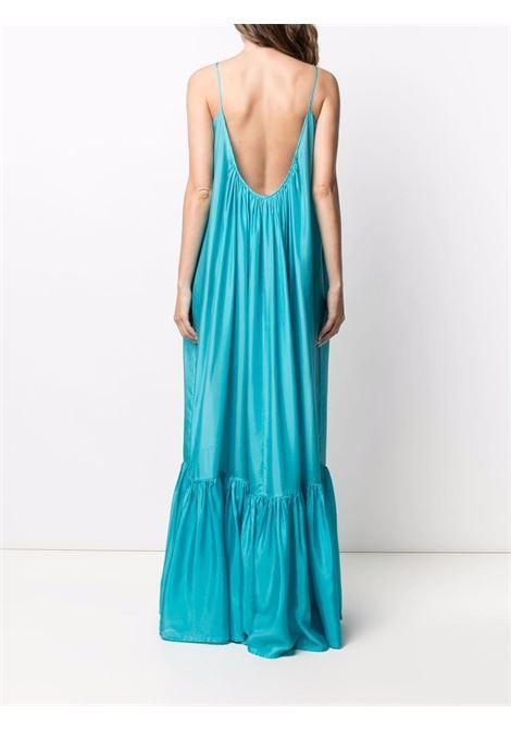 Aqua-blue pleated sleeveless gown - women KALITA | NO13AQ