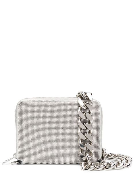 Crystal-embellished clutch