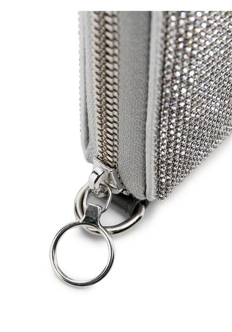 Crystal-embellished clutch KARA | SLG76D1305WHT