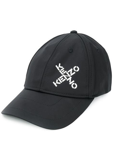 Kenzo cappello da baseball con logo uomo noir KENZO | Cappelli | FA65AC221F2199