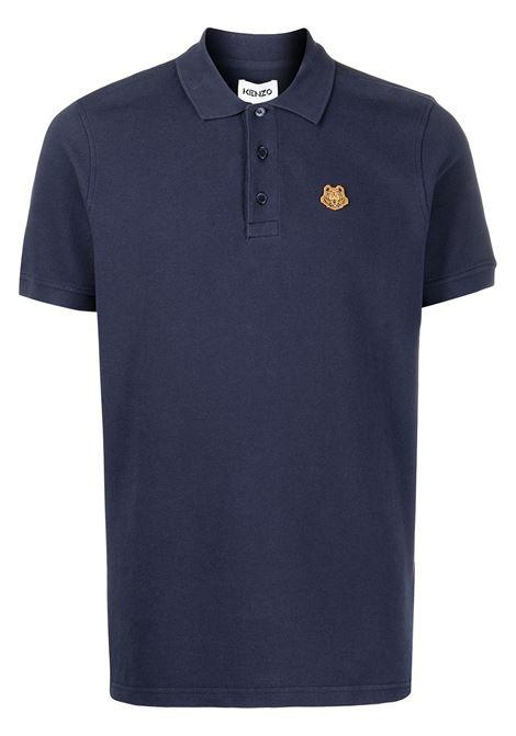 Kenzo polo con logo uomo bleu marine KENZO | Polo | FA65PO0014PU76B