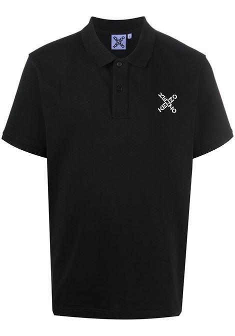 Kenzo polo con logo uomo noir KENZO | Polo | FA65PO0504SK99
