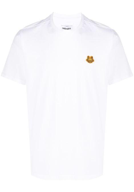 Kenzo t-shirt con girocollo uomo blanc KENZO | T-shirt | FA65TS0034SJ01