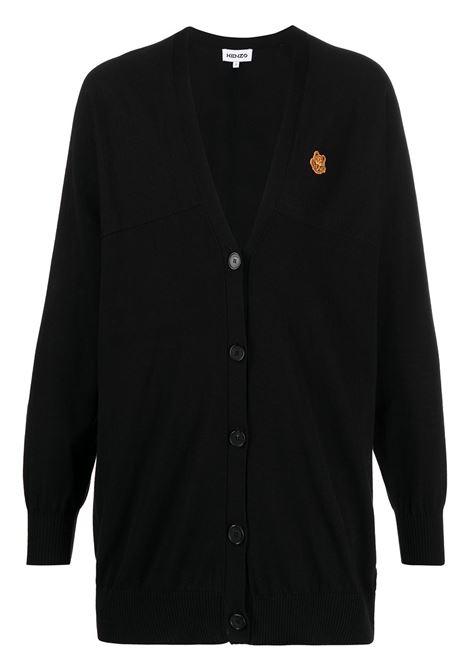 Kenzo cardigan tiger crest donna noir KENZO | Maglie | FB52CA5813TB99