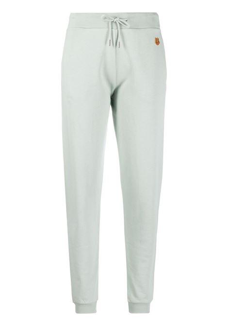 Kenzo pantaloni sportivi con ricamo donna celadon KENZO | Pantaloni | FB52PA7224ML61