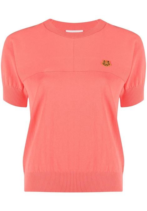Kenzo donna t-shirt con logo coquelicot KENZO | Maglie | FB52PU5803TB19