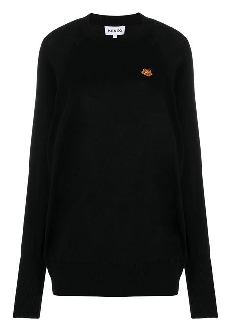 Kenzo maglione con stampa donna noir KENZO | Maglie | FB52PU5813TB99