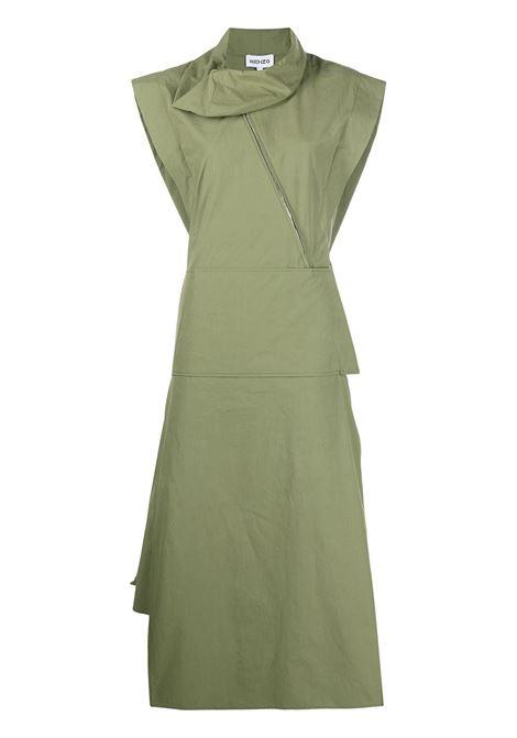 Kenzo abito svasato donna olive KENZO | Abiti | FB52RO0349SA49