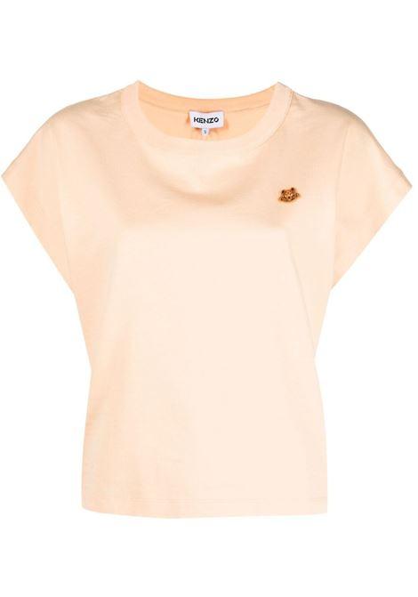Kenzo t-shirt tiger crest donna peche KENZO | T-shirt | FB52TS6454SB35