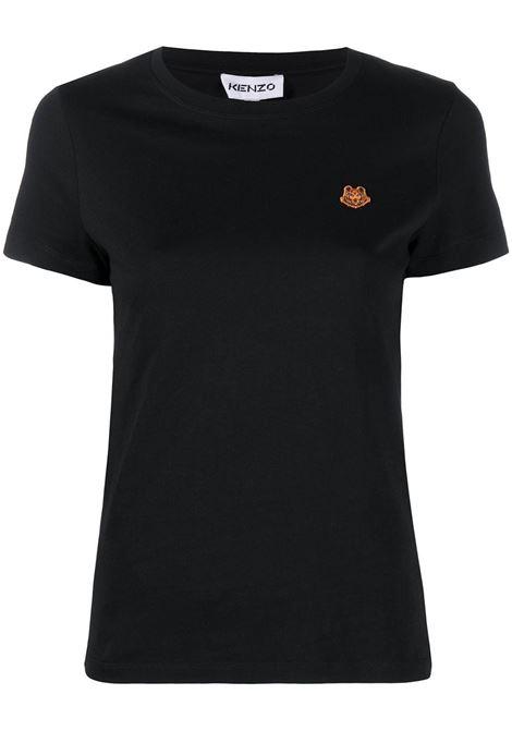 Kenzo t-shirt con logo donna noir KENZO | T-shirt | FB52TS8434SA99