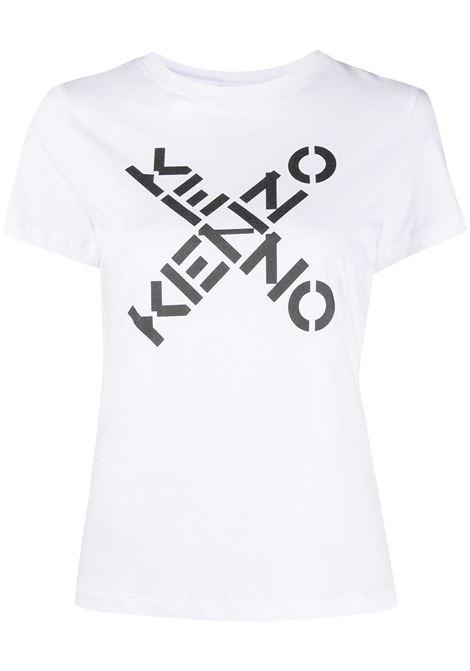 Kenzo t-shirt con logo donna blanc KENZO | T-shirt | FB52TS8504SJ01