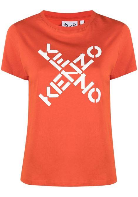 Kenzo t-shirt con logo donna orange fonce KENZO | T-shirt | FB52TS8504SJ16